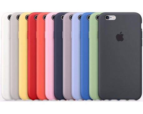 Fundas Silicone Originales iPhone 6/6s Plus 7/8 Plus Colores